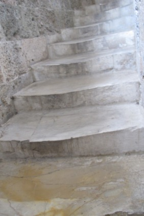 Leaning Stair Steps of Pisa Tower